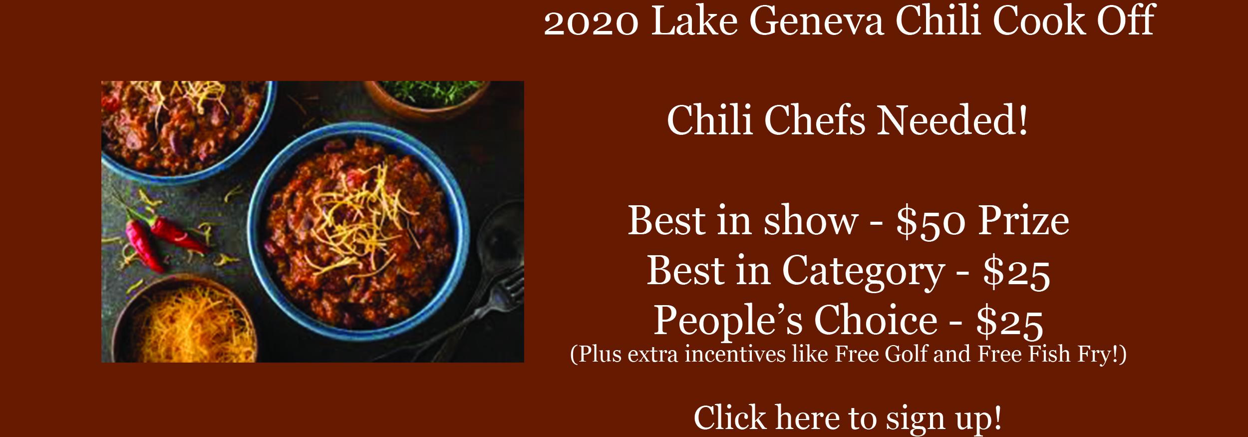 2020 Lake Geneva Chili Cook Off