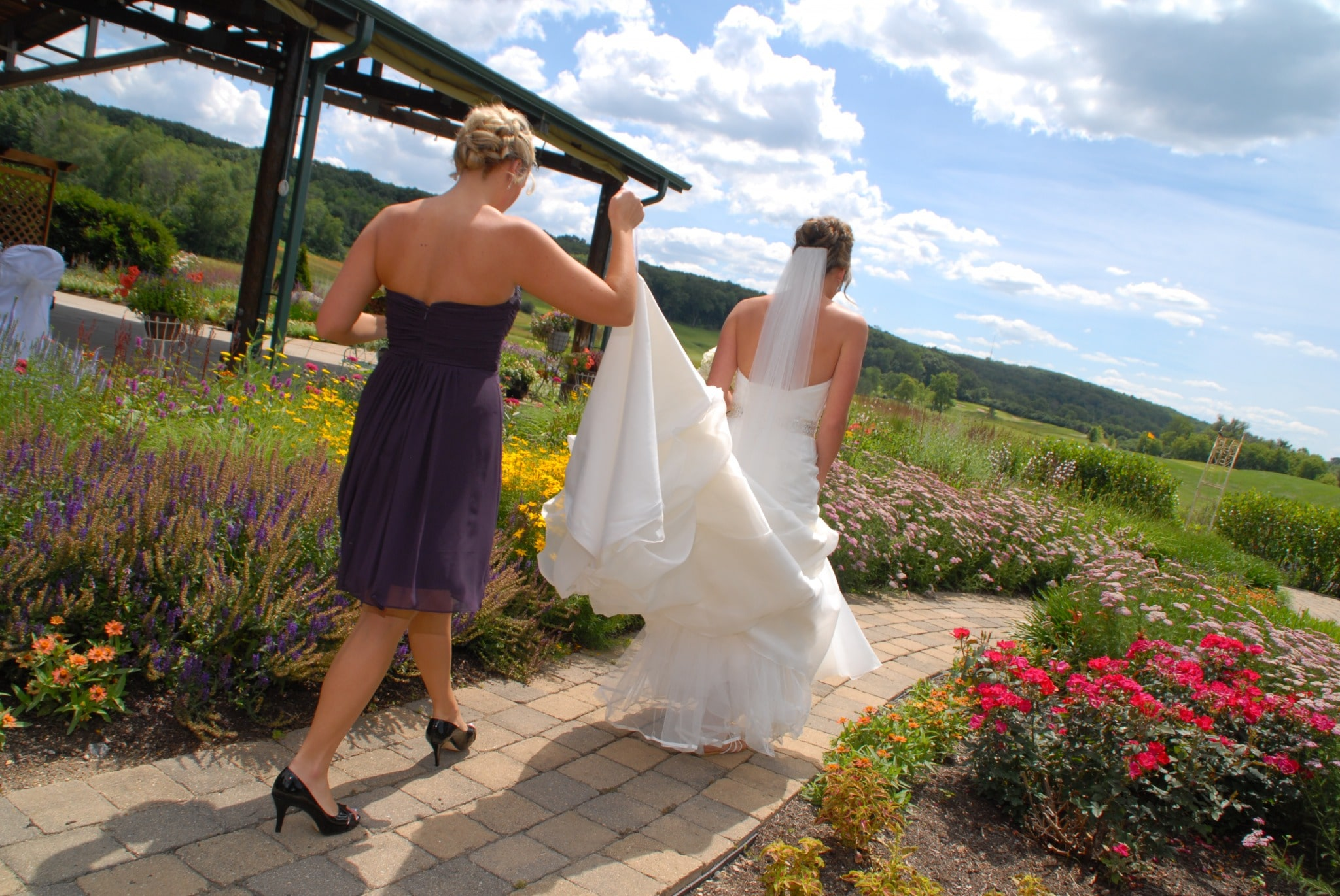 Bride Garden Walk