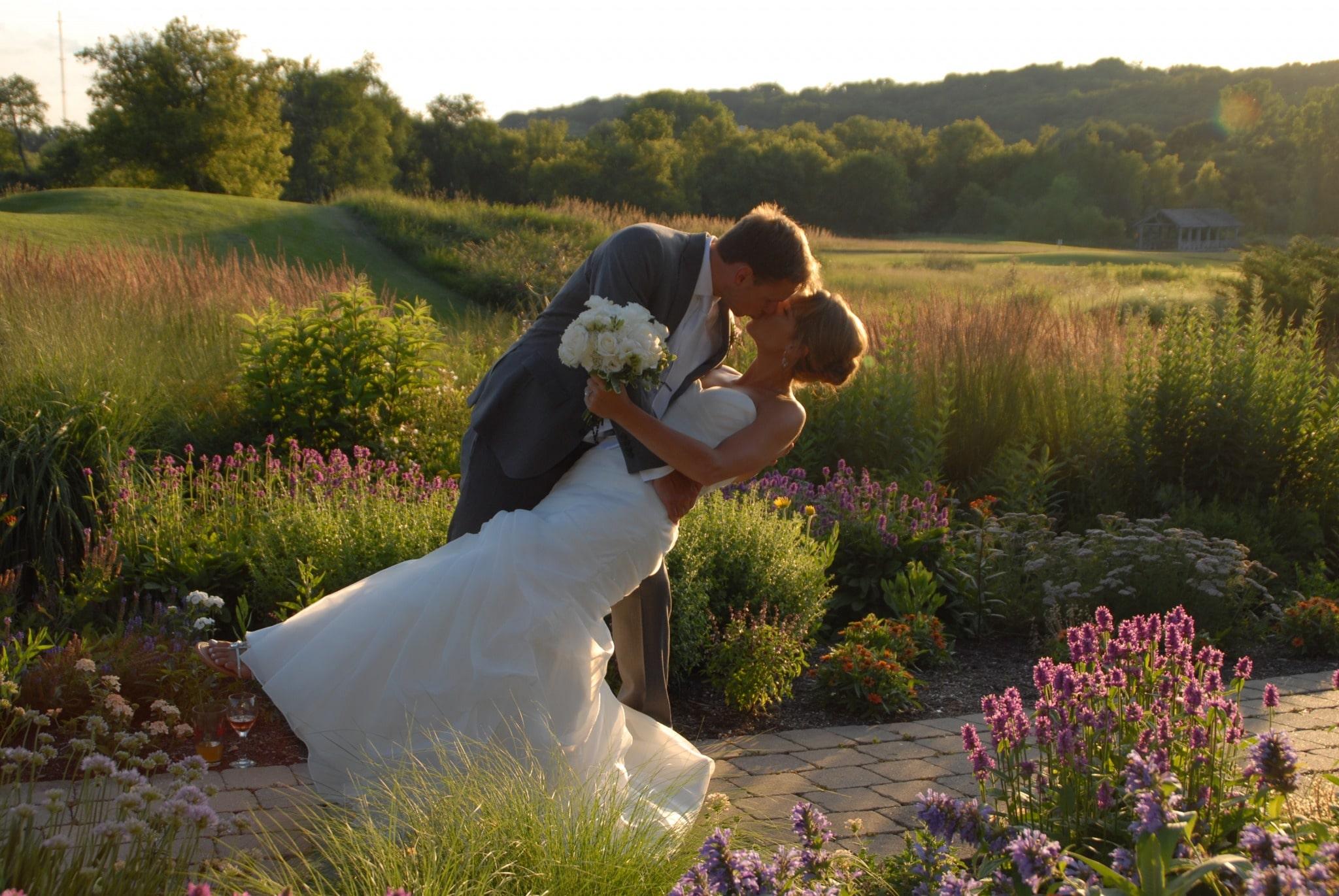 Sunset Garden Couple