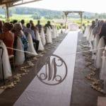 customized decor at an outdoors wedding