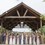 bridal party outdoor photo